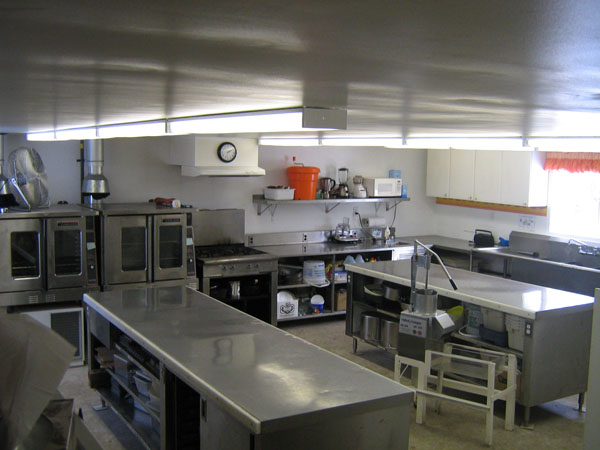 Shaws Catering kitchen